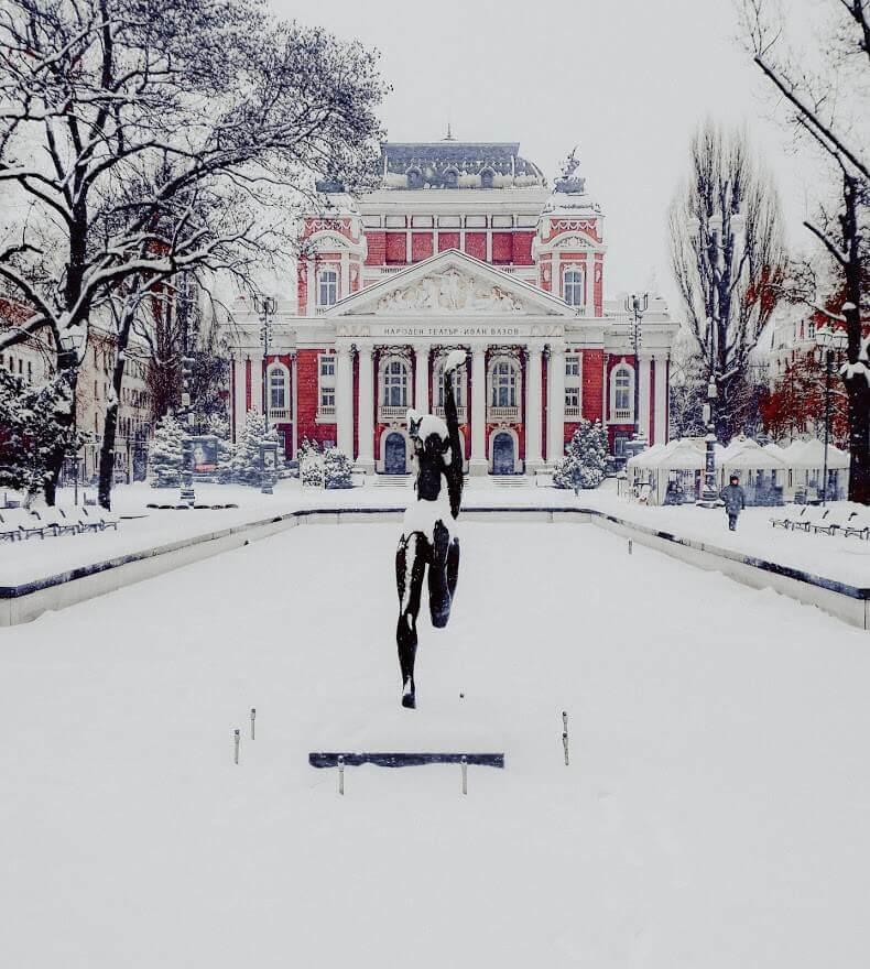 Sofia city in winter